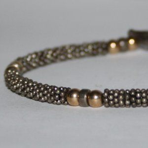 Vintage Jewelry - Beautiful rustic silver and gold toggle bracelet